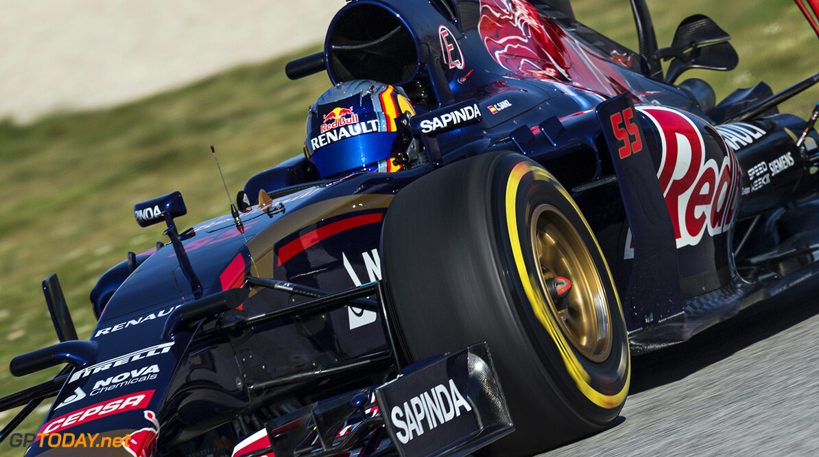 Carlos Sainz of Spain and Scuderia Toro Rosso drives the STR10 in Misano, Italy on January 28th, 2015 // Samo Vidic/Red Bull Content Pool // P-20150131-00054 // Usage for editorial use only // Please go to www.redbullcontentpool.com for further information. //  Carlos Sainz - Action  Misano Adriatico Italy  P-20150131-00054