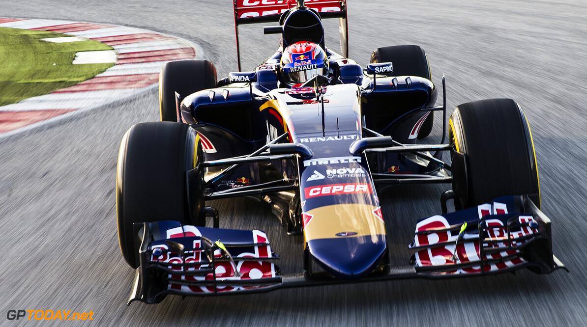Max Verstappen of Netherlands and Scuderia Toro Rosso drives the STR10 in Misano, Italy on January 28th, 2015 // Samo Vidic/Red Bull Content Pool // P-20150131-00036 // Usage for editorial use only // Please go to www.redbullcontentpool.com for further information. //  Max Verstappen - Action  Misano Adriatico Italy  P-20150131-00036