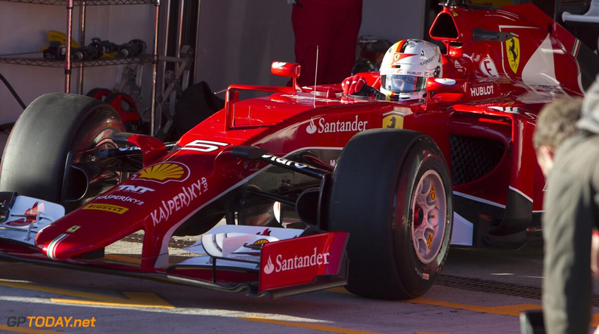 """Vettel: """"Het ging vrij redelijk voor een eerste dag"""""""