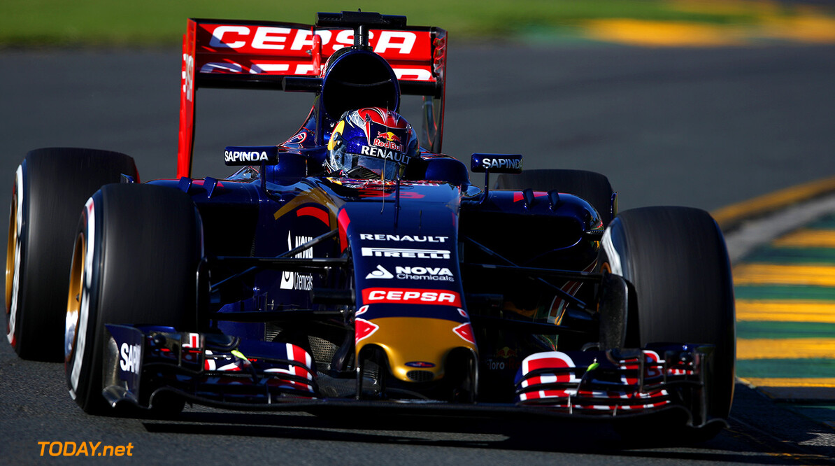 MELBOURNE, AUSTRALIA - MARCH 13:  Max Verstappen of Netherlands and Scuderia Toro Rosso drives during practice for the Australian Formula One Grand Prix at Albert Park on March 13, 2015 in Melbourne, Australia.  (Photo by Clive Mason/Getty Images) *** Local Caption *** Max Verstappen Australian F1 Grand Prix - Practice Clive Mason Melbourne Australia  Formula One Racing formula 1 Auto Racing Formula 1 Australian Grand Prix Australian Formula One Grand Prix Formula One Grand Prix Australia F1 Grand Prix