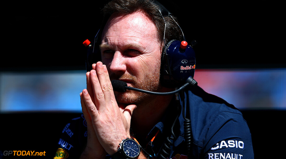 MELBOURNE, AUSTRALIA - MARCH 13:  Infiniti Red Bull Racing Team Principal Christian Horner looks on from the pit wall during practice for the Australian Formula One Grand Prix at Albert Park on March 13, 2015 in Melbourne, Australia.  (Photo by Robert Cianflone/Getty Images) // Getty Images/Red Bull Content Pool // P-20150313-00146 // Usage for editorial use only // Please go to www.redbullcontentpool.com for further information. //  Australian F1 Grand Prix - Practice Robert Cianflone Melbourne Australia  P-20150313-00146