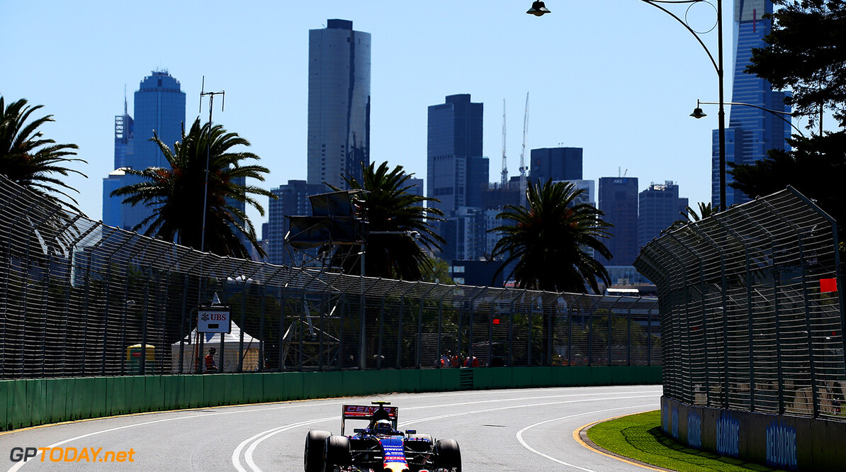 MELBOURNE, AUSTRALIA - MARCH 13:  Carlos Sainz of Spain and Scuderia Toro Rosso drives during practice for the Australian Formula One Grand Prix at Albert Park on March 13, 2015 in Melbourne, Australia.  (Photo by Mark Thompson/Getty Images) *** Local Caption *** Carlos Sainz Australian F1 Grand Prix - Practice Mark Thompson Melbourne Australia  Formula One Racing formula 1 Auto Racing Formula 1 Australian Grand Prix Australian Formula One Grand Prix Formula One Grand Prix Australia F1 Grand Prix