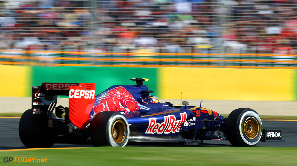 MELBOURNE, AUSTRALIA - MARCH 15:  Carlos Sainz of Spain and Scuderia Toro Rosso drives during the Australian Formula One Grand Prix at Albert Park on March 15, 2015 in Melbourne, Australia.  (Photo by Clive Mason/Getty Images) *** Local Caption *** Carlos Sainz Australian F1 Grand Prix Clive Mason Melbourne Australia  Formula One Racing formula 1 Auto Racing Formula 1 Australian Grand Prix Australian Formula One Grand Prix Formula One Grand Prix Australia F1 Grand Prix