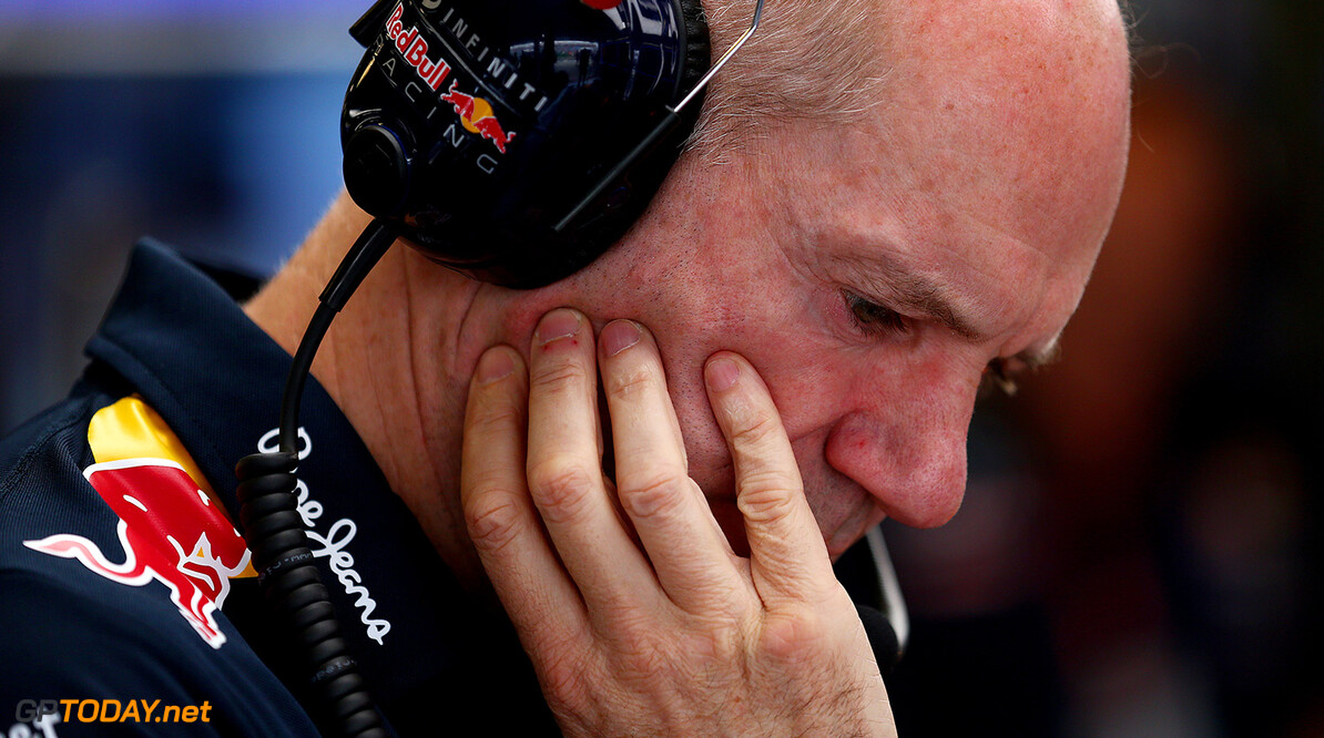 MELBOURNE, AUSTRALIA - MARCH 14:  Adrian Newey, the Chief Technical Officer of Infiniti Red Bull Racing looks on in the garage during final practice for the Australian Formula One Grand Prix at Albert Park on March 14, 2015 in Melbourne, Australia.  (Photo by Dan Istitene/Getty Images) // Getty Images/Red Bull Content Pool // P-20150314-00218 // Usage for editorial use only // Please go to www.redbullcontentpool.com for further information. //  Australian F1 Grand Prix - Qualifying Dan Istitene Melbourne Australia  P-20150314-00218