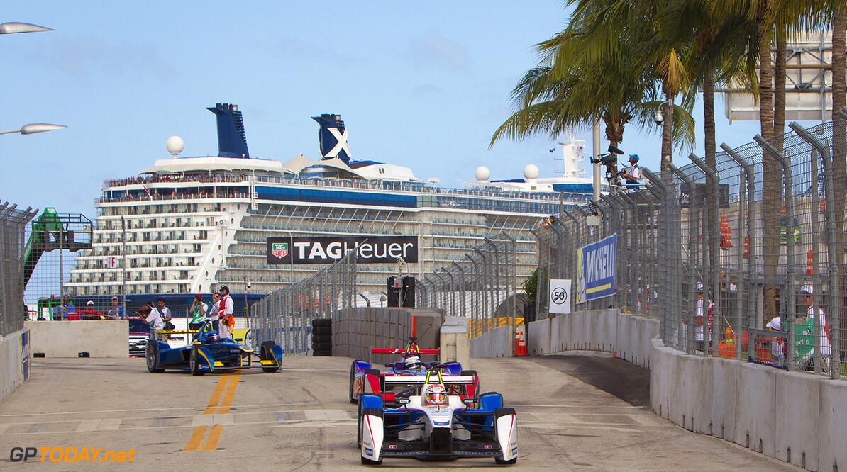 Miami e-Prix Race 2015. Jean-Eric Vergne (FRA)/Andretti Motorsport - Spark-Renault SRT_01E  FIA Formula E World Championship. Miami, Florida, USA. Saturday 14 March 2015.  Copyright: Adam Warner / LAT / FE ref: Digital Image _A8C2597  Adam Warner