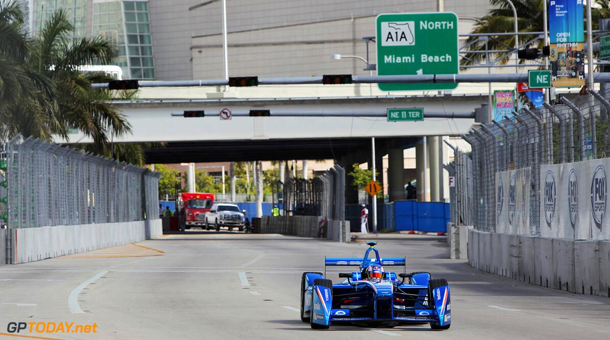 2014/2015 FIA Formula E Championship. Miami ePrix, Miami, Florida, United States of America. Saturday 14 March 2015  Photo: Zak Mauger/LAT/Formula E ref: Digital Image _MG_0871   Zak Mauger    fe formula e usa