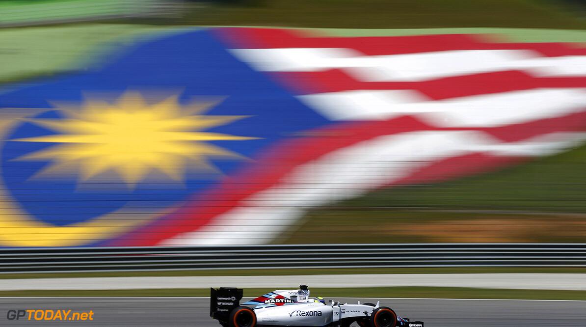 Sepang International Circuit, Sepang, Kuala Lumpur, Malaysia. Friday 27 March 2015. Felipe Massa, Williams FW37 Mercedes. World Copyright: Glenn Dunbar/Williams  ref: Digital Image _89P7383
