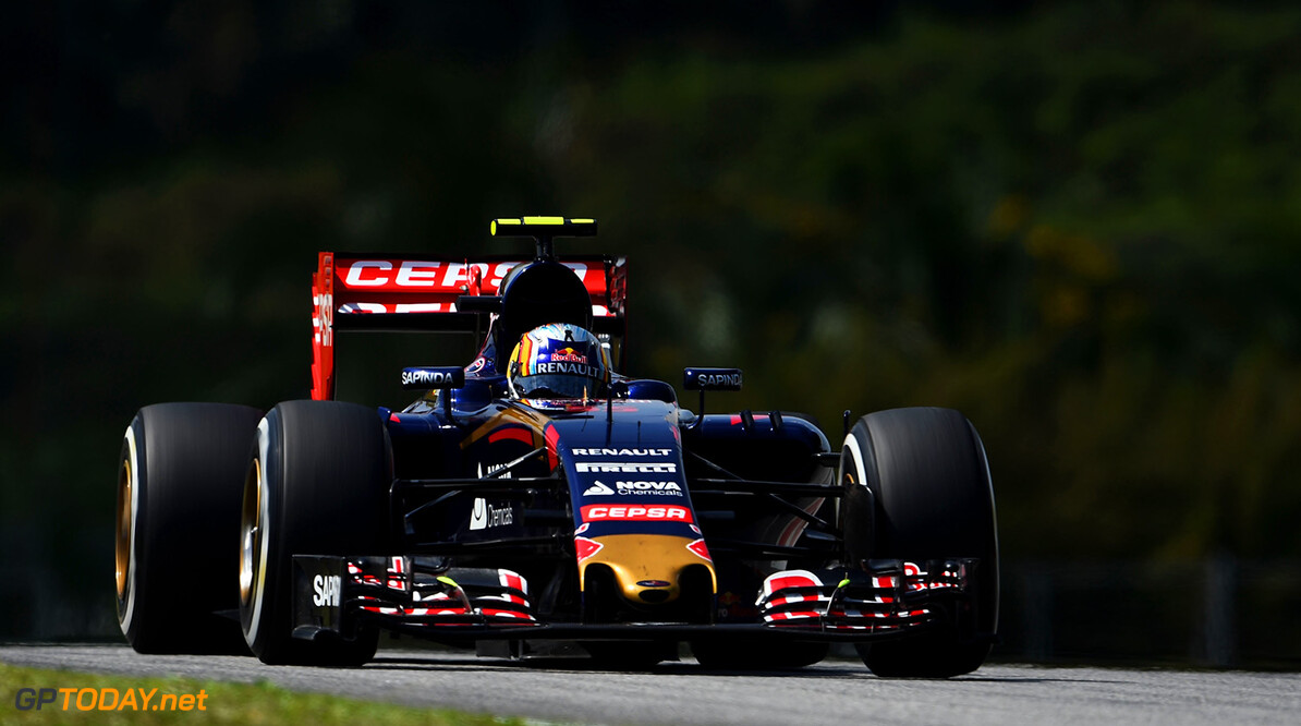 KUALA LUMPUR, MALAYSIA - MARCH 27:  Carlos Sainz of Spain and Scuderia Toro Rosso drives during practice for the Malaysia Formula One Grand Prix at Sepang Circuit on March 27, 2015 in Kuala Lumpur, Malaysia.  (Photo by Lars Baron/Getty Images) *** Local Caption *** Carlos Sainz F1 Grand Prix of Malaysia - Practice Lars Baron Kuala Lumpur Malaysia  Formula One Racing formula 1 Auto Racing Malaysia F1 Grand Prix Malaysian Formula One Grand Prix Formula One Grand Prix
