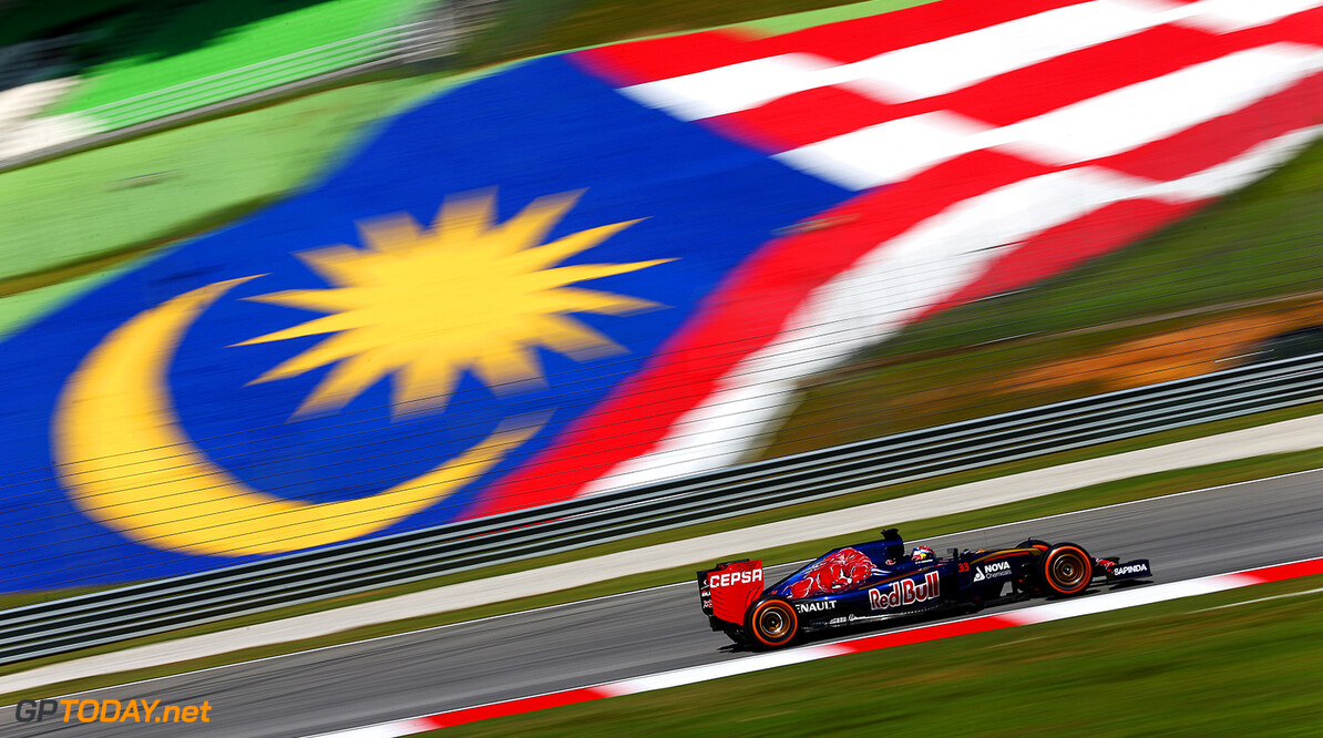 KUALA LUMPUR, MALAYSIA - MARCH 27:  Max Verstappen of Netherlands and Scuderia Toro Rosso drives during practice for the Malaysia Formula One Grand Prix at Sepang Circuit on March 27, 2015 in Kuala Lumpur, Malaysia.  (Photo by Clive Mason/Getty Images) *** Local Caption *** Max Verstappen F1 Grand Prix of Malaysia - Practice Clive Mason Kuala Lumpur Malaysia  Formula One Racing formula 1 Auto Racing Malaysia F1 Grand Prix Malaysian Formula One Grand Prix Formula One Grand Prix