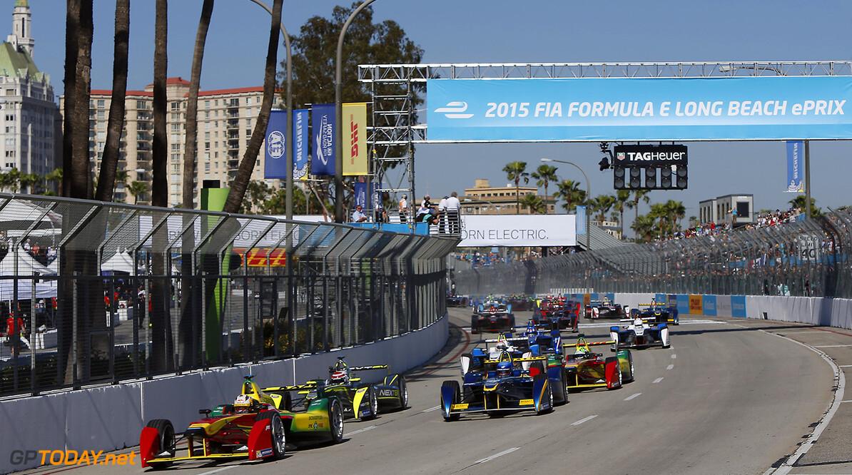 2014/2015 FIA Formula E Championship. Long Beach ePrix, Long Beach, California, United States of America. Saturday 4 April 2015  Photo: Zak Mauger/LAT/Formula E ref: Digital Image _L0U7962   Zak Mauger    fe formula e usa