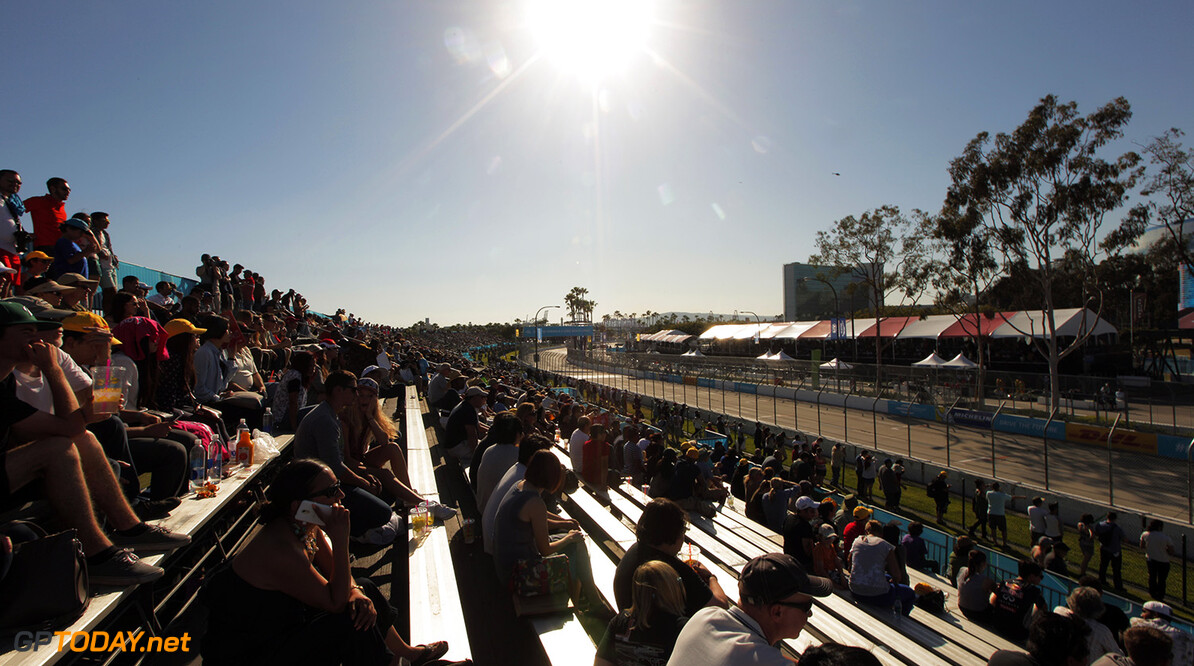 2014/2015 FIA Formula E Championship. Long Beach ePrix, Long Beach, California, United States of America. Saturday 4 April 2015  Photo: Zak Mauger/LAT/Formula E ref: Digital Image _MG_5711   Zak Mauger    fe formula e usa