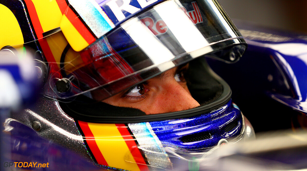 SHANGHAI, CHINA - APRIL 10:  Carlos Sainz of Spain and Scuderia Toro Rosso sits in his car in the garage during practice for the Formula One Grand Prix of China at Shanghai International Circuit on April 10, 2015 in Shanghai, China.  (Photo by Dan Istitene/Getty Images) *** Local Caption *** Carlos Sainz F1 Grand Prix of China - Practice Dan Istitene Shanghai China  Formula One Racing formula 1 Auto Racing Formula 1 Grand Prix of China Chinese Formula One Grand Prix Formula One Grand Prix