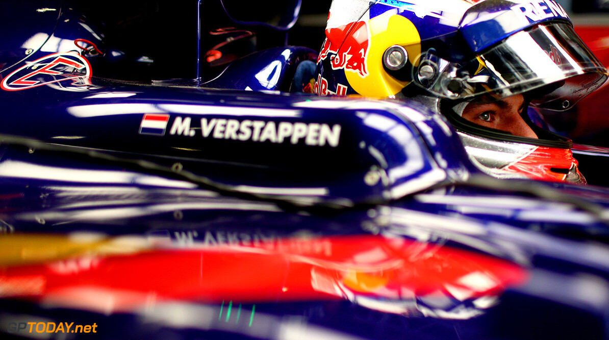 SHANGHAI, CHINA - APRIL 10:  Max Verstappen of Netherlands and Scuderia Toro Rosso sits in his car in the garage during practice for the Formula One Grand Prix of China at Shanghai International Circuit on April 10, 2015 in Shanghai, China.  (Photo by Dan Istitene/Getty Images) *** Local Caption *** Max Verstappen F1 Grand Prix of China - Practice Dan Istitene Shanghai China  Formula One Racing formula 1 Auto Racing Formula 1 Grand Prix of China Chinese Formula One Grand Prix Formula One Grand Prix
