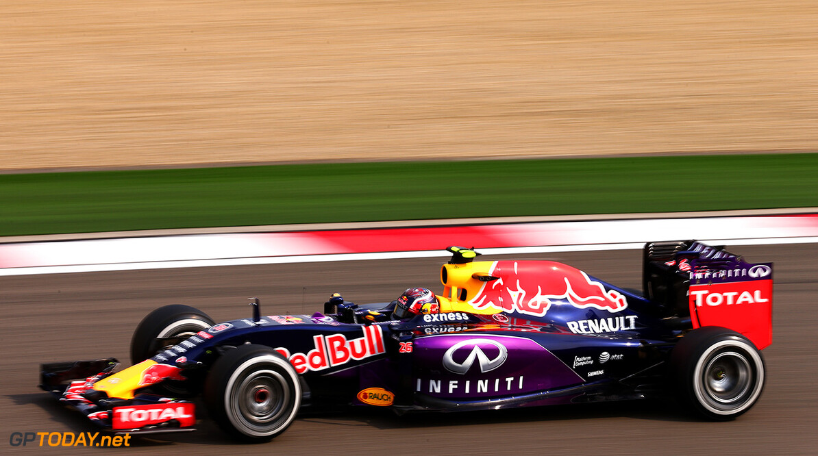 SHANGHAI, CHINA - APRIL 10:  Daniil Kvyat of Russia and Infiniti Red Bull Racing drives during practice for the Formula One Grand Prix of China at Shanghai International Circuit on April 10, 2015 in Shanghai, China.  (Photo by Dan Istitene/Getty Images) // Getty Images/Red Bull Content Pool // P-20150410-00347 // Usage for editorial use only // Please go to www.redbullcontentpool.com for further information. //  F1 Grand Prix of China - Practice Dan Istitene Shanghai China  P-20150410-00347