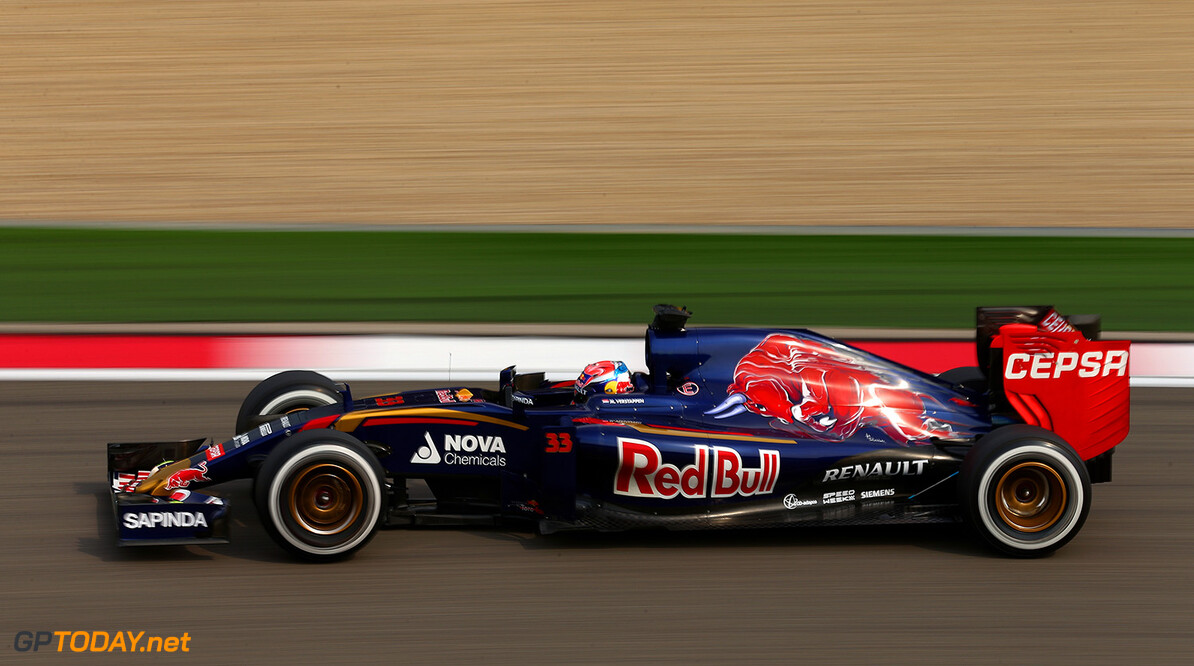 SHANGHAI, CHINA - APRIL 10:  Max Verstappen of Netherlands and Scuderia Toro Rosso drives during practice for the Formula One Grand Prix of China at Shanghai International Circuit on April 10, 2015 in Shanghai, China.  (Photo by Dan Istitene/Getty Images) *** Local Caption *** Max Verstappen F1 Grand Prix of China - Practice Dan Istitene Shanghai China  Formula One Racing formula 1 Auto Racing Formula 1 Grand Prix of China Chinese Formula One Grand Prix Formula One Grand Prix