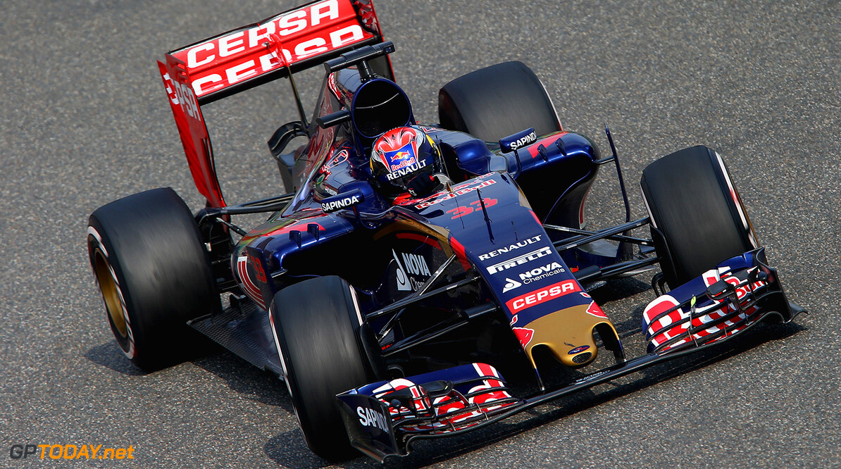 SHANGHAI, CHINA - APRIL 10:  Max Verstappen of Netherlands and Scuderia Toro Rosso drives during practice for the Formula One Grand Prix of China at Shanghai International Circuit on April 10, 2015 in Shanghai, China.  (Photo by Mark Thompson/Getty Images) *** Local Caption *** Max Verstappen F1 Grand Prix of China - Practice Mark Thompson Shanghai China  Formula One Racing formula 1 Auto Racing Formula 1 Grand Prix of China Chinese Formula One Grand Prix Formula One Grand Prix
