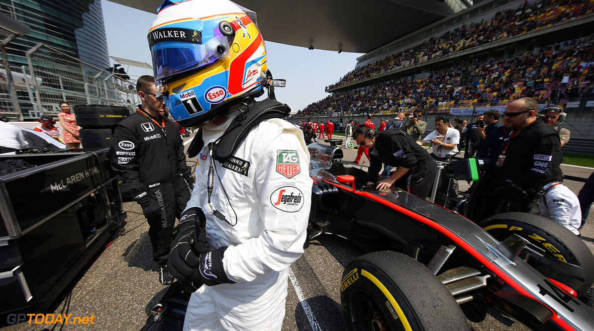 Fernando Alonso on the grid.