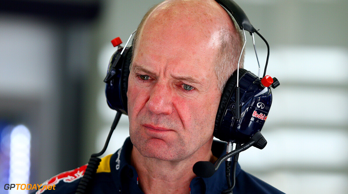 BAHRAIN, BAHRAIN - APRIL 17:  Adrian Newey, the Chief Technical Officer of Infiniti Red Bull Racing looks on in the garage during practice for the Bahrain Formula One Grand Prix at Bahrain International Circuit on April 17, 2015 in Bahrain, Bahrain.  (Photo by Dan Istitene/Getty Images) // Getty Images/Red Bull Content Pool // P-20150417-00303 // Usage for editorial use only // Please go to www.redbullcontentpool.com for further information. //  F1 Grand Prix of Bahrain - Practice Dan Istitene As Sakhir Bahrain  P-20150417-00303