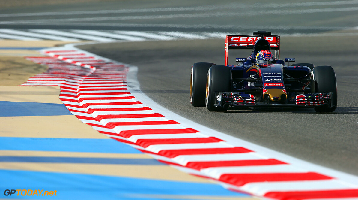 BAHRAIN, BAHRAIN - APRIL 18:  Max Verstappen of Netherlands and Scuderia Toro Rosso drives during final practice for the Bahrain Formula One Grand Prix at Bahrain International Circuit on April 18, 2015 in Bahrain, Bahrain.  (Photo by Mark Thompson/Getty Images) *** Local Caption *** Max Verstappen F1 Grand Prix of Bahrain - Qualifying Mark Thompson Bahrain Bahrain  formula 1 Formula One Racing Auto Racing Formula 1 Grand Prix of Bahrain Bahrain Formula One Grand Prix Formula One Grand Prix
