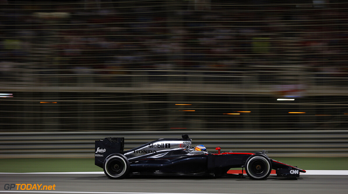 Fernando Alonso on track.