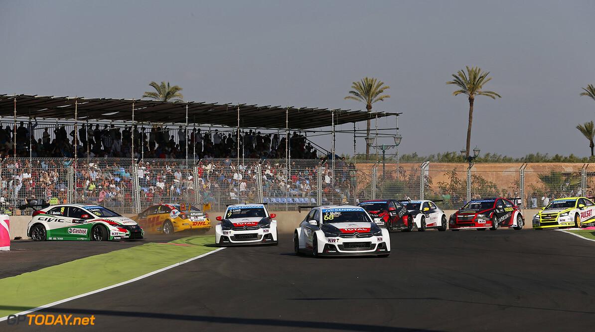 START 2 during the 2015 FIA WTCC World Touring Car Race of Morocco at Marrakech, from April 17 to 19th 2015. Photo Jean Michel Le Meur / DPPI. AUTO - WTCC MARRAKECH 2015 JEAN-MICHEL LE MEUR Marrakech Maroc  MAROC Auto CHAMPIONNAT DU MONDE CIRCUIT COURSE FIA Motorsport TOURISME WTCC APRIL AVRIL