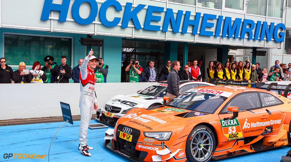 Motorsports / DTM: german touring cars championship - 1. race Hockenheimring, GER #53 Jamie Green (GBR, Audi Sport Team Rosberg, Audi RS 5 DTM) Motorsports / DTM 1. race Hockenheimring, GER  Gruppe C GmbH    Aktion - Action Fahraufnahme Fahrszene - race action Motorsport Partner01 Partner03 Rennen Rennen - race Rennszene Sport fahrt