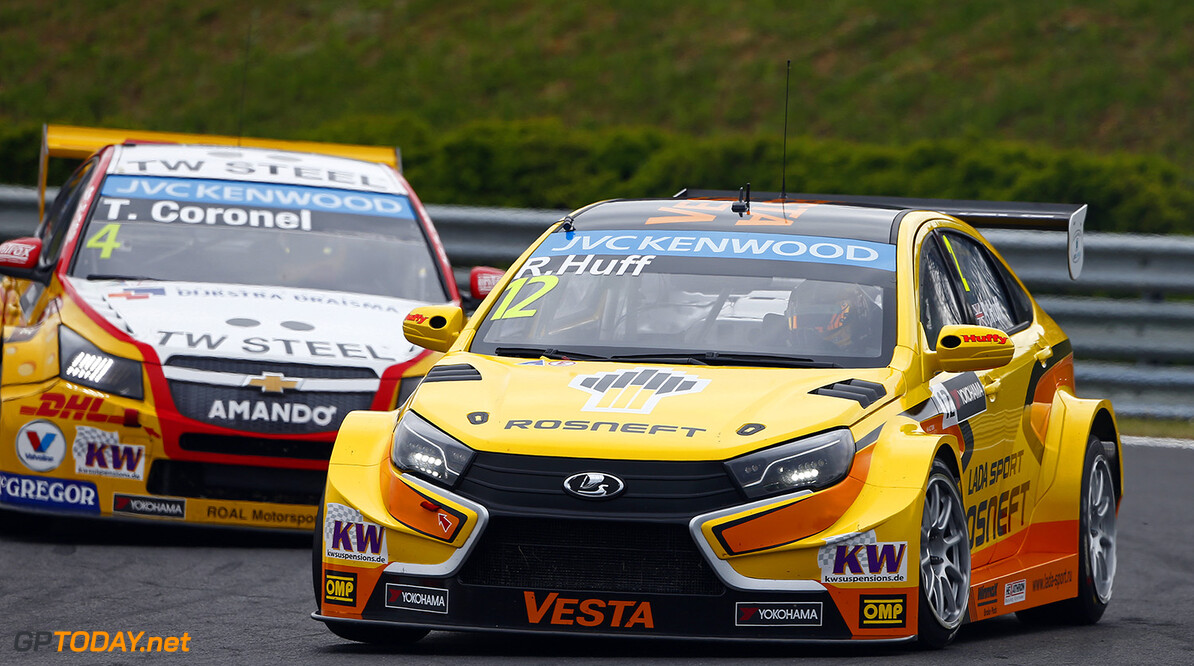 12 HUFF Rob (GBR) Lada Vesta team Lada Sport Rosneft action     during the 2015 FIA WTCC World Touring Car Race of Hungary at hungaroring, Budapest from May 1st to 3rd 2015. Photo Frederic Le Floch / DPPI. AUTO - WTCC HUNGARY 2015 Frederic Le Floch Budapest Hungary  Auto CHAMPIONNAT DU MONDE CIRCUIT COURSE FIA Motorsport TOURISME WTCC hongrie europe