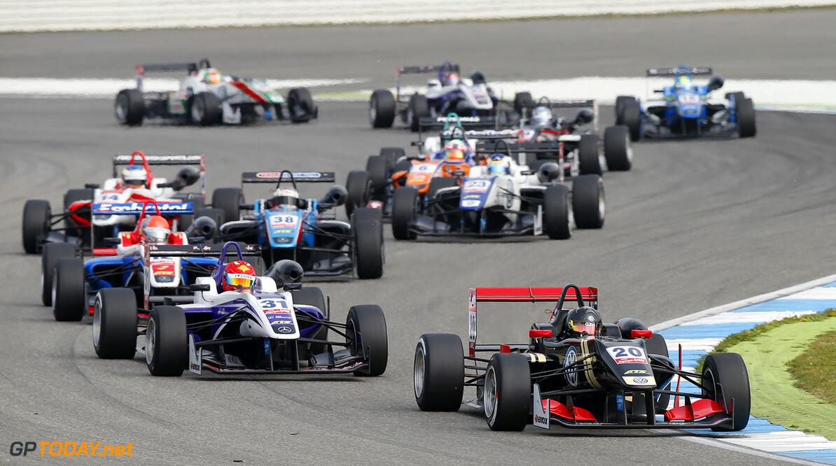 FIA Formula 3 European Championship, round 2, race 2, Hockenheim 20 Dorian Boccolacci (FRA, Signature, Dallara F312 - Volkswagen), 31 Hongwei Cao (CHN, Fortec Motorsports, Dallara F312 - Mercedes-Benz), FIA Formula 3 European Championship, round 2, race 2, Hockenheim (GER) - 30. April - 3. May 2015 FIA Formula 3 European Championship, round 2, race 2, Hockenheim (GER) Thomas Suer Hockenheim Germany