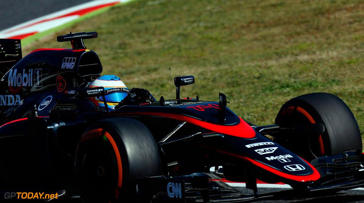 Alonso uitgevallen door tear-off in brake-duct