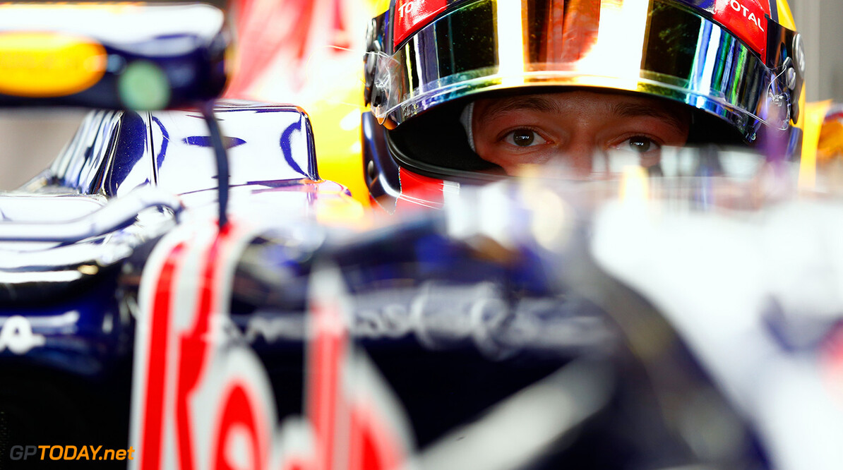 MONTMELO, SPAIN - MAY 08:  Daniil Kvyat of Russia and Infiniti Red Bull Racing sits in his car in the garage during practice for the Spanish Formula One Grand Prix at Circuit de Catalunya on May 8, 2015 in Montmelo, Spain.  (Photo by Paul Gilham/Getty Images) // Getty Images/Red Bull Content Pool // P-20150508-00369 // Usage for editorial use only // Please go to www.redbullcontentpool.com for further information. //  Spanish F1 Grand Prix - Practice Paul Gilham Barcelona (City) Spain  P-20150508-00369
