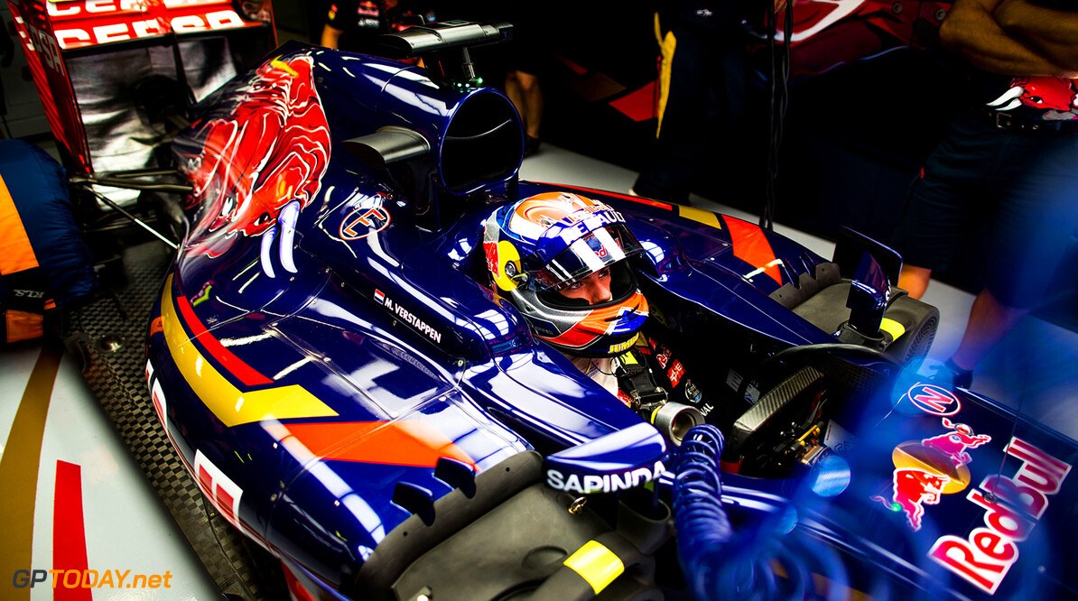 527736241PF023_Spanish_F1_G MONTMELO, SPAIN - MAY 08:  Max Verstappen of Scuderia Toro Rosso and The Netherlands during practice for the Spanish Formula One Grand Prix at Circuit de Catalunya on May 8, 2015 in Montmelo, Spain.  (Photo by Peter Fox/Getty Images) *** Local Caption *** Max Verstappen Spanish F1 Grand Prix - Practice Peter Fox Montmelo Spain  Formula One Racing formula 1 Auto Racing Spain F1 Grand Prix Spanish Formula One Grand Prix Formula One Grand Prix