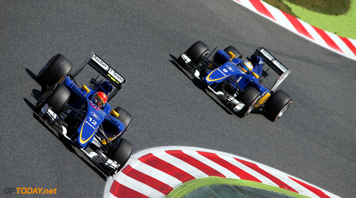 Spanish GP Race 10/05/15 Felipe Nasr (BRA), Sauber F1 Team. 