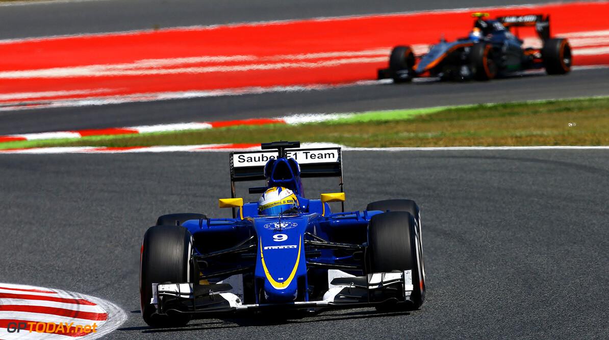 Spanish GP Race 10/05/15 Marcus Ericsson (SWE), Sauber F1 Team. Circuit de Catalunya.  Spanish GP Race 10/05/15 Jean Francois Galeron Montmelo Spain  F1 Formula One 2015 Action Ericsson Sauber