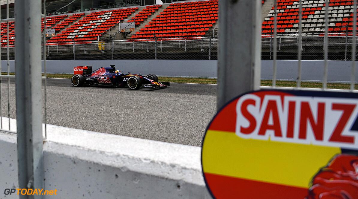 F1 Carlos Sainz (ES) Toro Rosso    en  el segundo dia entrenamientos en Montmelo el miercoles 13 de mayo de 2015 F1 RUBIO montmelo Espana/Spain  F1 2015 espana montmelo