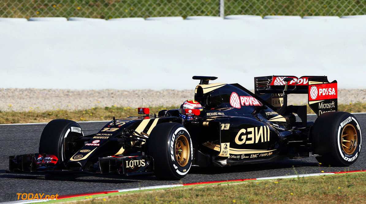 Formula One Testing Pastor Maldonado (VEN) Lotus F1 E23.