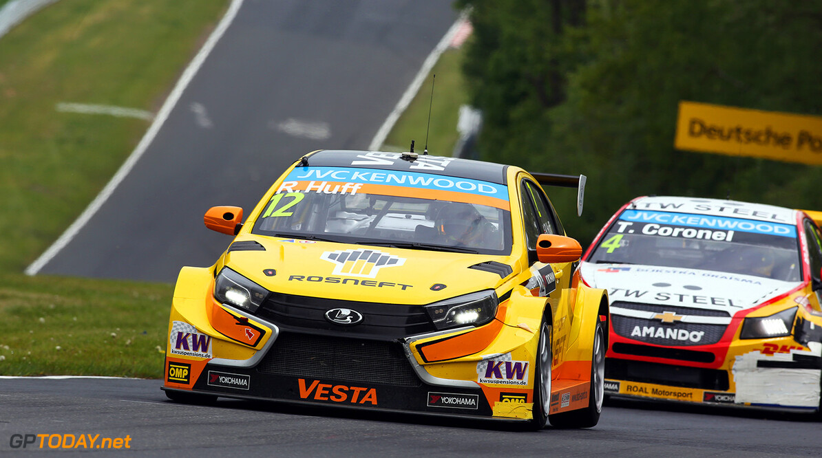 12 HUFF Rob (GBR) Lada Vesta team Lada Sport Rosneft action during the 2015 FIA WTCC World Touring Car Race of Nurburgring, Germany from May 15th to 17th 2015. Photo Clement Marin / DPPI. AUTO - WTCC NURBURGING 2015 Clement Marin Nurburg Germany  Auto CHAMPIONNAT DU MONDE CIRCUIT COURSE Europe FIA Motorsport TOURISME WTCC allemagne