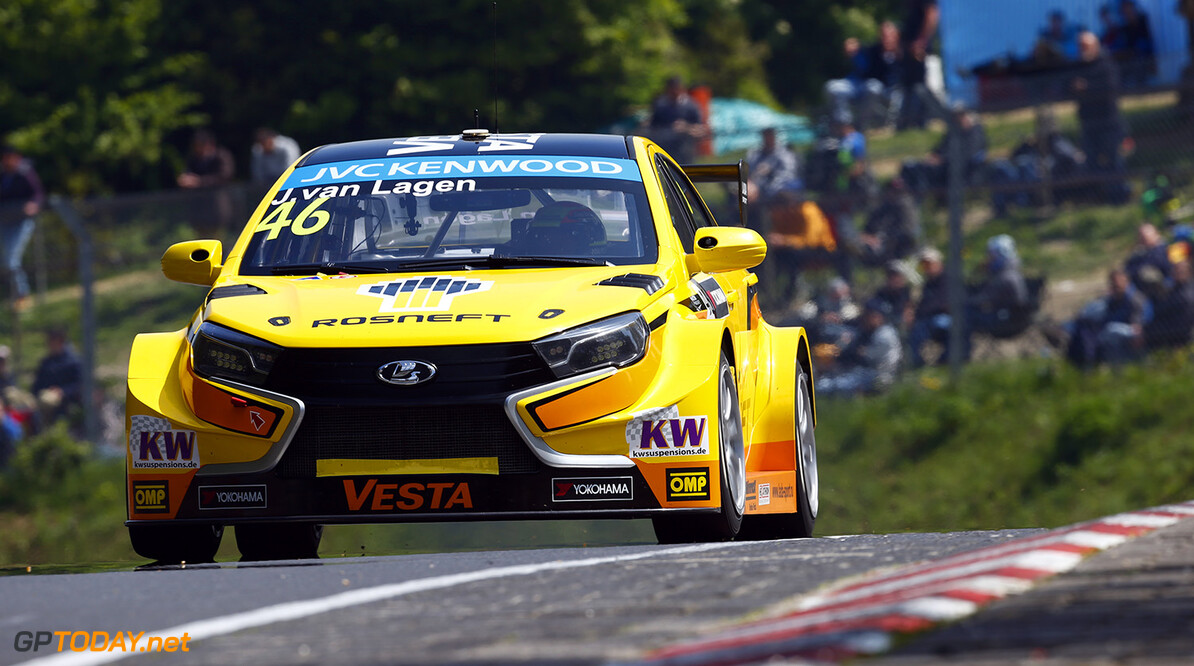 VAN LAAGEN Jaap (ned) Lada Vesta team Lada Sport Rosneft action during the 2015 FIA WTCC World Touring Car Race of Nurburgring, Germany from May 15th to 17th 2015. Photo Florent Gooden / DPPI. AUTO - WTCC NURBURGING 2015 Florent Gooden Nurburg Germany  AUTO CHAMPIONNAT DU MONDE CIRCUIT COURSE FIA Motorsport TOURISME WTCC allemagne europe