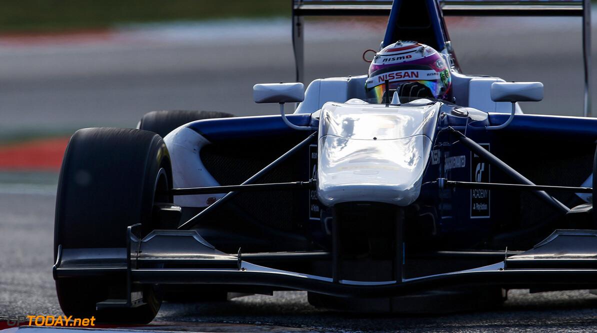 2015 GP3 Series Round 1. Circuit de Catalunya, Barcelona, Spain. Friday 8 May 2015. Jann Mardenborough, (GBR, Carlin). Photo: Zak Mauger/GP3 Series Media Service. ref: Digital Image _L0U3377   Zak Mauger    Practice