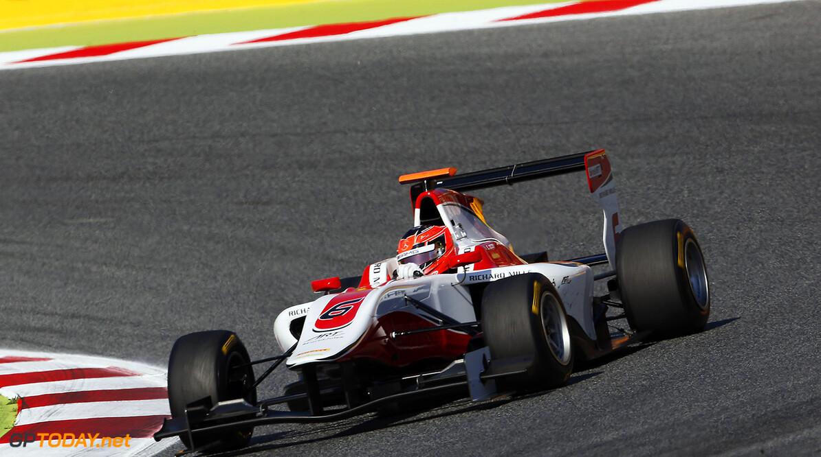 2015 GP3 Series Round 1. Circuit de Catalunya, Barcelona, Spain. Saturday 9 May 2015. Esteban Ocon (FRA, ART Grand Prix). Photo: Zak Mauger/GP3 Series Media Service. ref: Digital Image _L0U4956   Zak Mauger    Race One 1 race