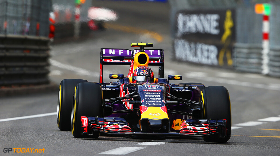MONTE-CARLO, MONACO - MAY 21:  Daniil Kvyat of Russia and Infiniti Red Bull Racing drives during practice for the Monaco Formula One Grand Prix at Circuit de Monaco on May 21, 2015 in Monte-Carlo, Monaco.  (Photo by Mark Thompson/Getty Images) // Getty Images/Red Bull Content Pool // P-20150521-00155 // Usage for editorial use only // Please go to www.redbullcontentpool.com for further information. //  F1 Grand Prix of Monaco - Practice Mark Thompson Monte-Carlo (City) Monaco  P-20150521-00155