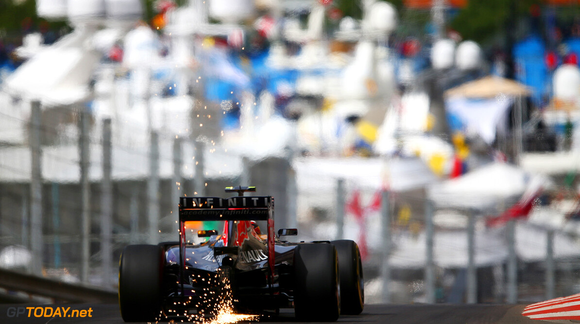 MONTE-CARLO, MONACO - MAY 21:  Daniil Kvyat of Russia and Infiniti Red Bull Racing drives during practice for the Monaco Formula One Grand Prix at Circuit de Monaco on May 21, 2015 in Monte-Carlo, Monaco.  (Photo by Dan Istitene/Getty Images) // Getty Images/Red Bull Content Pool // P-20150521-00157 // Usage for editorial use only // Please go to www.redbullcontentpool.com for further information. //  F1 Grand Prix of Monaco - Practice Dan Istitene Monte-Carlo (City) Monaco  P-20150521-00157