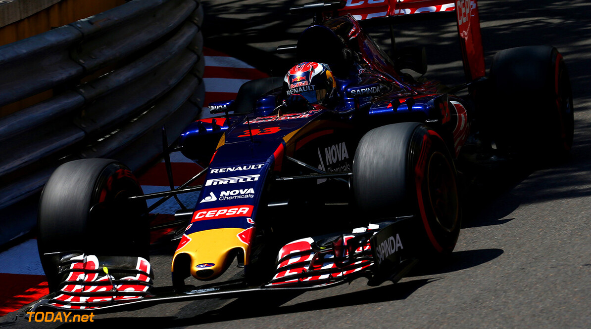 527885649DI00074_F1_Grand_P MONTE-CARLO, MONACO - MAY 24:  Max Verstappen of Netherlands and Scuderia Toro Rosso drives during the Monaco Formula One Grand Prix at Circuit de Monaco on May 24, 2015 in Monte-Carlo, Monaco.  (Photo by Dan Istitene/Getty Images) F1 Grand Prix of Monaco Dan Istitene Monte-Carlo Monaco