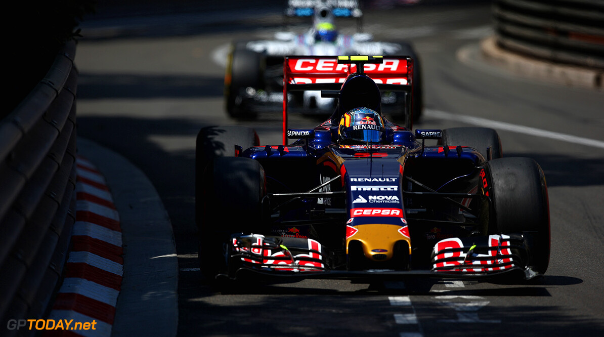 527885649KR00124_F1_Grand_P MONTE-CARLO, MONACO - MAY 24:  Carlos Sainz of Spain and Scuderia Toro Rosso drives during the Monaco Formula One Grand Prix at Circuit de Monaco on May 24, 2015 in Monte-Carlo, Monaco.  (Photo by Paul Gilham/Getty Images) F1 Grand Prix of Monaco Paul Gilham Monte-Carlo Monaco