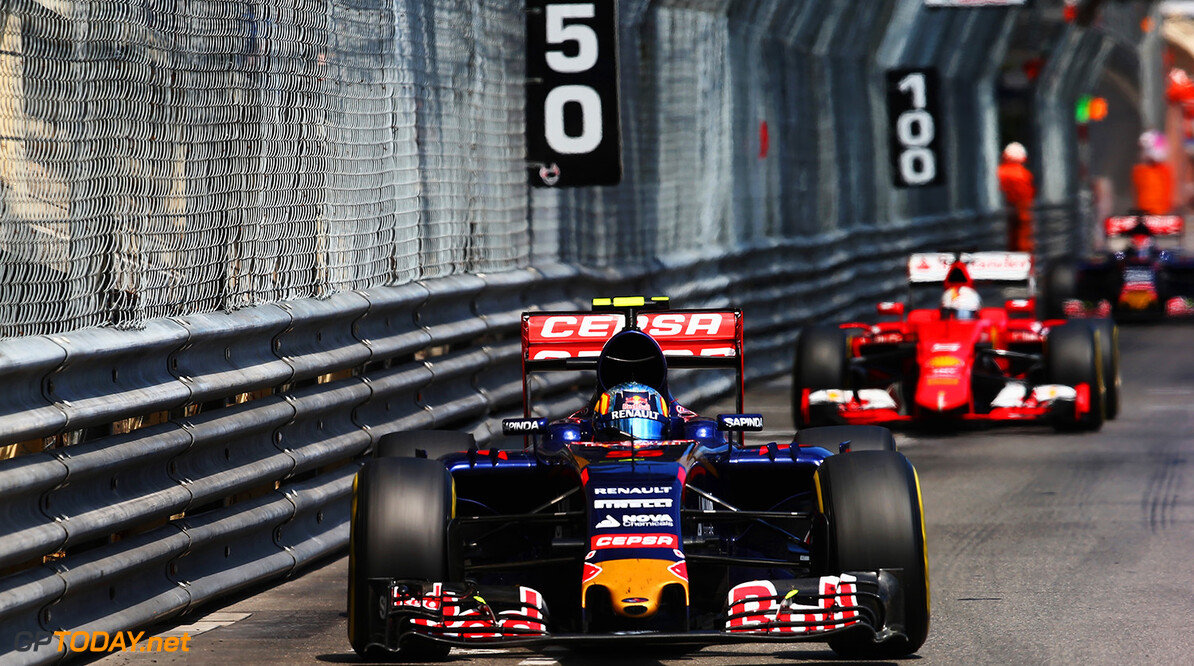 527885649KR00226_F1_Grand_P MONTE-CARLO, MONACO - MAY 24:  Carlos Sainz of Spain and Scuderia Toro Rosso drives during the Monaco Formula One Grand Prix at Circuit de Monaco on May 24, 2015 in Monte-Carlo, Monaco.  (Photo by Mark Thompson/Getty Images) F1 Grand Prix of Monaco Mark Thompson Monte-Carlo Monaco