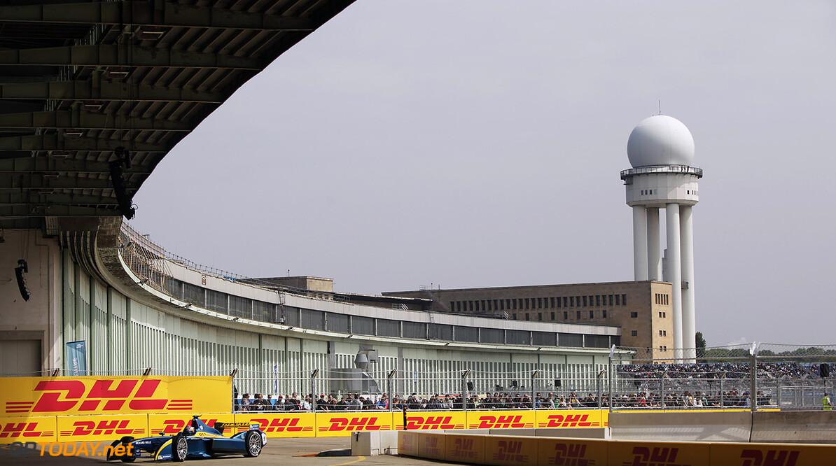 2014/2015 FIA Formula E Championship. Berlin ePrix, Berlin Tempelhof Airport, Germany. Saturday 23 May 2015 Sebastien Buemi (SWI)/E.dams Renault - Spark-Renault SRT_01E. Photo: Zak Mauger/LAT/Formula E ref: Digital Image _MG_7703   Zak Mauger    fe formula e