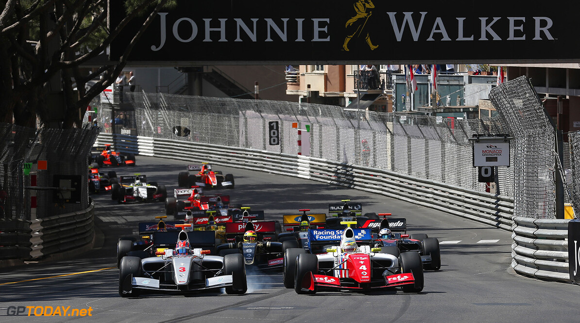 START 03 JAAFAR Jazeman (MAL) Fortec Motorsports (GBR) action 04 ROWLAND Oliver (GBR) Fortec Motorsports (GBR) action during the 2015 Formula Renault 3.5 race at Monaco from May 22 to 24th 2015, in Monaco. Photo Jean Michel Le Meur / DPPI AUTO - MONACO FR 3.5 2015 JEAN MICHEL LE MEUR Monaco Monaco  Auto Car FR FR 3.5 Formule Renault WSR World Series by Renault MAI MAY MONACO MONOPLACE Motorsport Race UNIPLACE