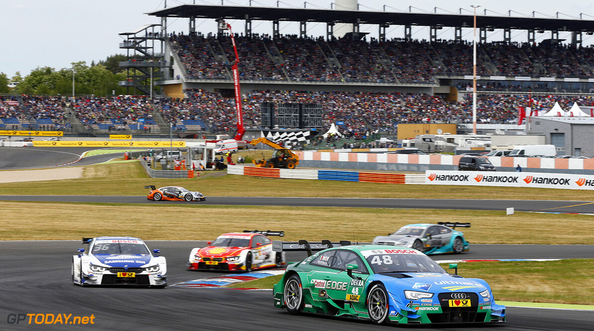 #48 Edoardo Mortara, Audi RS5 DTM, #36 Maxime Martin, BMW M4 DTM, #18 Augusto Farfus, BMW M4 DTM