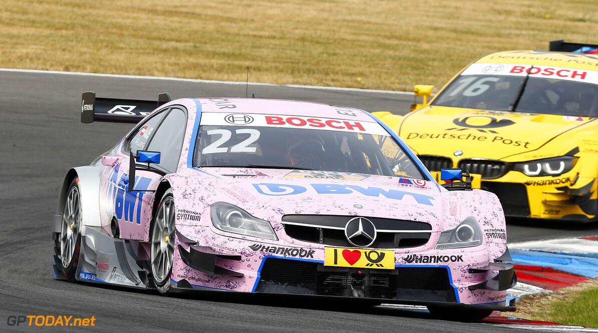 #22 Lucas Auer, Mercedes-AMG C 63 DTM, #16 Timo Glock, BMW M4 DTM