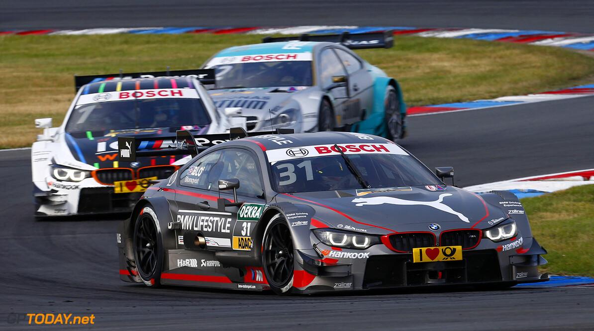 #31 Tom Blomqvist, BMW M4 DTM, #1 Marco Wittmann, BMW M4 DTM, #12 Daniel Juncadella, Mercedes-AMG C 63 DTM
