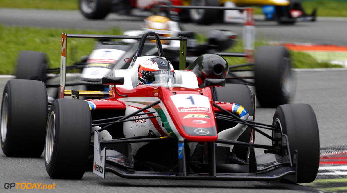 FIA Formula 3 European Championship, round 4, race 3, Monza 1 Felix Rosenqvist (SWE, Prema Powerteam, Dallara F312 - Mercedes-Benz), 7 Charles Leclerc (MCO, Van Amersfoort Racing, Dallara F312 - Volkswagen), FIA Formula 3 European Championship, round 4, race 3, Monza (ITA) - 29. - 31. May 2015 FIA Formula 3 European Championship, round 4, race 3, Monza (ITA) Thomas Suer Monza Italy